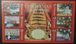 GUERNSEY 1998 CHRISTMAS MINIATURE SHEET MS816 MNH 6 VALUES PANDA TELE-TUBBY TEDDY BEAR DOLL CHILDREN - Guernsey