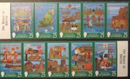 GUERNSEY 1998 MILLENIUM TAPESTRIES SG760-769 MNH 10 VALUES - Guernsey