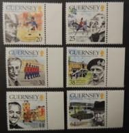 GUERNSEY 1999 SANDHURST SG838-843 MNH 6 VALUES MILITARIA CHURCHILL EARL HAGUE MONTGOMERY NIVEN - Guernsey