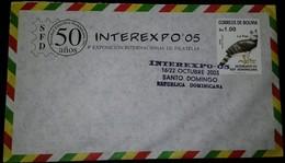 O) 2005 BOLIVIA, BIRD-HARPIA HARPYJA-EAGLE,PHILATELIC FEDERATION-EXHIBITION-INTEREXPO 2005  IN DOMINICAN REPUBLIC-INTERN - Bolivia