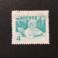 ◆◆◆KOREA 1957-59  Tombstone Of Mu Yal Wang    4h  USED   AA1713 - Corea Del Sur