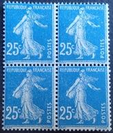 DF50478/400 - 1907 - TYPE SEMEUSE - N°140j BLOC NEUF**(2)/*(2) - 1906-38 Sower - Cameo