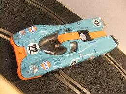 SCALEXTRIC PORSCHE 917 / Gulf 22 / Azul Y Naranja - Carros