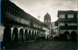 Cusco Street View Real Photo Postcard/Strassen Partie Des Anden Dorfes 1955 Privatfoto - Peru