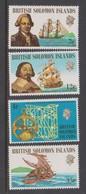 Solomon Islands SG 201-204 1971 Ships And Navigators ,mint Never  Hinged, - Solomon Islands (1978-...)