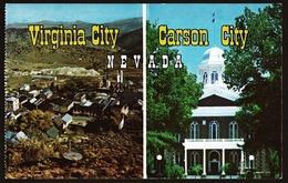 Virginia City - Old Mining Ghost Town / Carson City - State Capitol Building - Nevada  - Ansichtskarte Ca.1960  (10358) - Etats-Unis