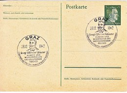 POSTAL  CARD  SCHONERER  EXPO.  AT  GRAZ - War 1939-45