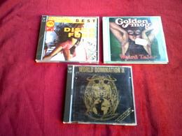 COLLECTION DE 3 CD ALBUM DE VARIOUS ARTISTES ° DISCO FUNK 2CD + WORLD DOMINATION 2 CD + GOLDEN SMOG - Reggae