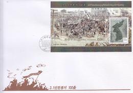 North Korea 2019 Stamps 100th Anniversary Of March 1 Popular Uprising  S/S FDC - Corea Del Norte