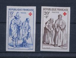 FRANCE 1957 - Paire CROIX-ROUGE Gravures  De Jacques CALLOT- ND YT 1140/1141 ** MNH Neuf Sans Charnière - France