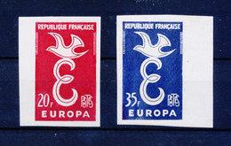 FRANCE 1958 - Paire EUROPA - ND YT 1140/1141 BDF Bord De Feuille ** MNH Neuf Sans Charnière - France