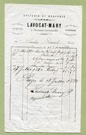 """THONNANCE-LES-JOINVILLE  (52) : """" EPICERIE Et MERCERIE - LAVOCAT-MARY """"  1880 - 1800 – 1899"""