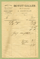 "JOINVILLE  (52) : "" EPICERIE - BOYOT-GILLES ""  1890 - France"