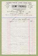"""JOINVILLE  (52) : """" PLATRERIE  CEMP Frères """"  1883 - France"""