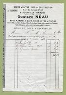 """JOINVILLE  (52) : """" SCIERIE A VAPEUR - Gustave NEAU """"  1883 - France"""