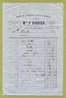 """JOINVILLE  (52) : """" MODES & LINGERIES - Mme Vve BARBIER """" - 1800 – 1899"""