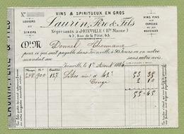 """JOINVILLE  (52) : """" VINS & SPIRITUEUX - LAURIN Père & Fils """"  1884 - 1800 – 1899"""
