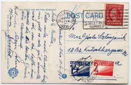 PORTO Mi. 133 + 141 Auf Karte Aus USA - Postage Due