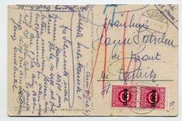 PORTO Mi. 192 (Paar) Auf Postkarte - Postage Due
