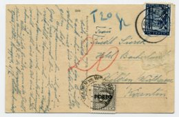 PORTO Mi. 193 Auf Postkarte - Postage Due