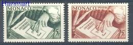 Monaco 1953 Mi 468-469 MNH ( ZE1 MNC468-469 ) - Ecrivains