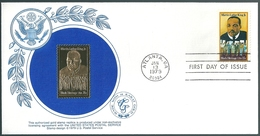 B4321 USA Personality Famous People Religion Activist FDC With Gold 14k Replica - Martin Luther King