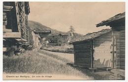 CPA - CHEMIN SUR MARTIGNY (Suisse) - Un Coin Du Village - VS Valais
