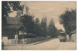 CPA - VANDOEUVRES (Suisse) - (Temple Protestant, Tramway)... - GE Genève