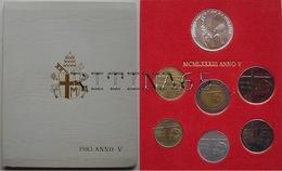 VATICANO !!! SERIE DIVISIONALE 1983 FDC GIOVANNI PAOLO II° ANNO V° !!! - Vaticano (Ciudad Del)