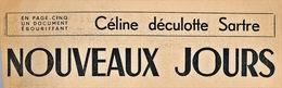 Céline Déculotte Sartre - War 1939-45