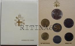VATICANO !!! SERIE DIVISIONALE 1984 FDC GIOVANNI PAOLO II° ANNO VI° !!! - Vaticano