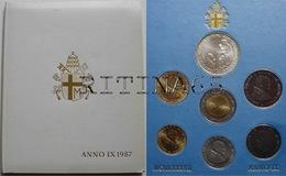 VATICANO !!! SERIE DIVISIONALE 1987 FDC GIOVANNI PAOLO II° ANNO IX° !!! - Vaticano