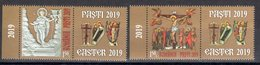 Romania 2019 / The Holy Easter / Set 2 Stamps With Labels - 1948-.... Republieken