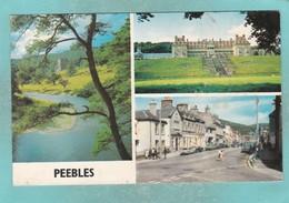 Small Multi View Post Card Of Peebles, Scottish Borders,K79. - Scotland