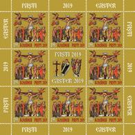 Romania 2019 / The Holy Easter / Set 2 MS With Labels - 1948-.... Républiques