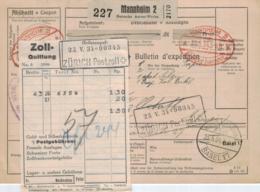 D.-Reich Paketkarte > Ausland  (ke1557  ) Siehe Scan - Germany