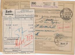 D.-Reich Paketkarte > Ausland  (ke1575  ) Siehe Scan - Germany