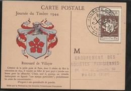 FDC Carte Maximum Premier Jour Paris Le 09/12/1944 Le N°668 Journée Du Timbre  TB Soldé  à Moins De 20% ! ! ! - ....-1949