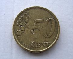 N. 67 ERRORE EURO !!! 50 CT. 2002 ITALIA EVANESCENTE !!! - Varietà E Curiosità