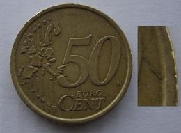N. 68 ERRORE EURO !!! 50 CT. 2002 ITALIA FRATTURA DI CONIO !!! - Varietà E Curiosità