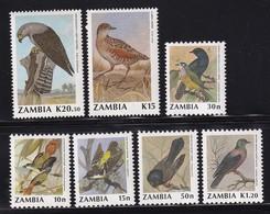 Zambia 1990, Birds, Minr 528-534, MNH. Cv 19 Euro - Zambia (1965-...)