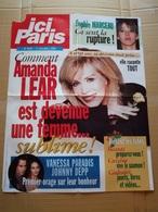 """Affiche """"ici Paris"""" N°2945  Amanda Lear ; Sophie Marceau ; Vanessa Paradis, Johnny Deep - Affiches"""