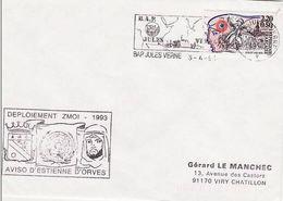 Pli  Aviso D'Estienne D'Orves  Bap  Jules Verne 1993.llll - Poststempel (Briefe)