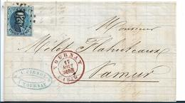B069 / BELGIEN -  (Brief) (Tournay 1855, König Leopold I Mit Schönem Schnitt Und Klarem Stempel - Belgien