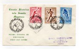 Somalia A.F.I.S. - 1958 - Busta FDC - Serie Sportiva - Con Triplo Annullo Filatelico - (FDC14755) - Somalia (1960-...)