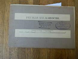 LA ROCHE EN ARDENNE+DURBUY+HOUFFALIZE:TRES RARE CARTE MILITAIRE DE 1908 DE LA ROCHE EN ARDENNE ET ENVIRONS - Documents