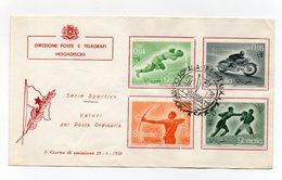 Somalia A.F.I.S. - 1958 - Busta FDC - Serie Sportiva - Con Annullo Filatelico - (FDC14758) - Somalia (1960-...)