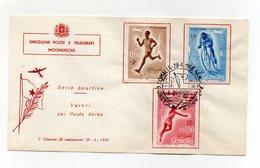 Somalia A.F.I.S. - 1958 - Busta FDC - Serie Sportiva - Posta Aerea - Con Annullo Filatelico - (FDC14761) - Somalia (1960-...)