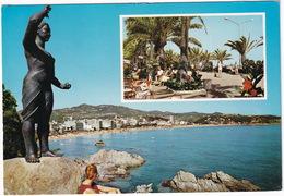 Lloret De Mar - Monumento A La Mujer Marinera Y Detalle Paseo - (Costa Brava - Espana) - Gerona