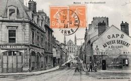 REIMS - Rue Flechambault (vue Animée, Café Au Vieux Sergent, Villeroy - épicerie) - Reims